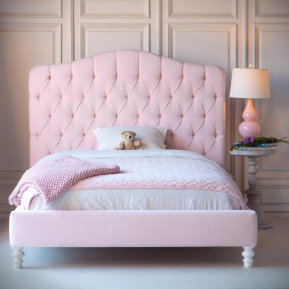 Lily Upholstered Bed Beds, Pink Upholstered Bed Frame