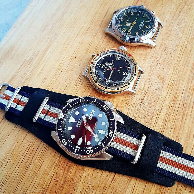⌚ NATO Strap on Leather for Seiko 🌟 Combine colors and textures for a new look 🌟