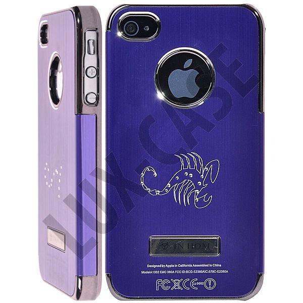 Zodiac Bling - Alu Back (Lilla) iPhone 4/4S Deksel