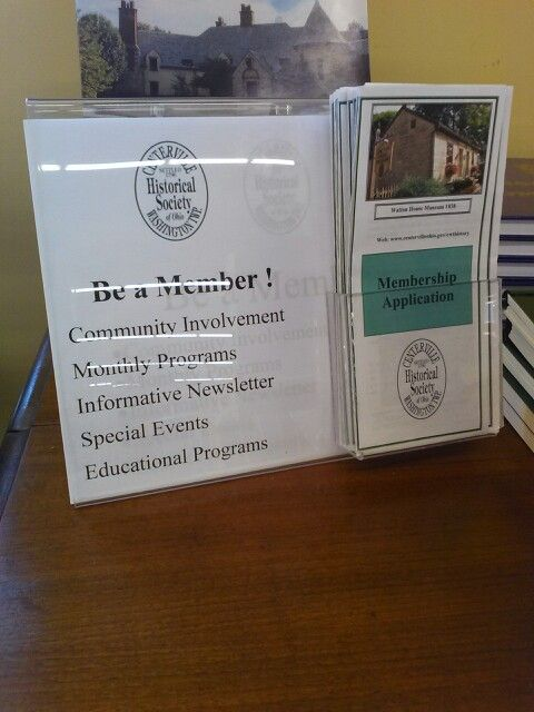 Want to join the Centerville-Washington Township Historical Society? You can find all the info you need about membership here at Antiques Village. Just drop by and check out their table by our service desk!
