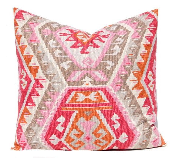 30% Off Sale Pink Tribal Pillow Cover Throw Pillow Covers