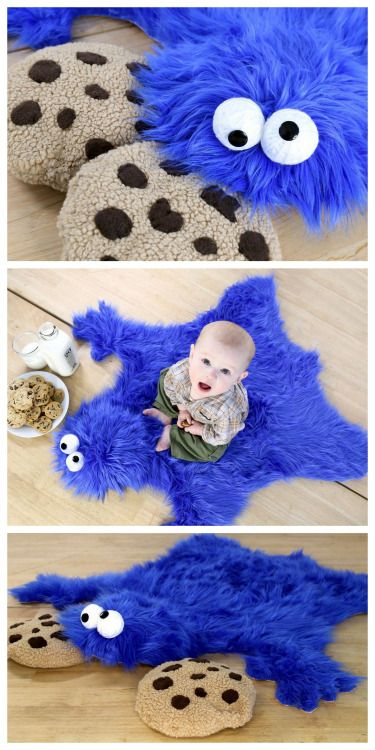 DIY Cookie Monster Rug Tutorial from Instructables' User...