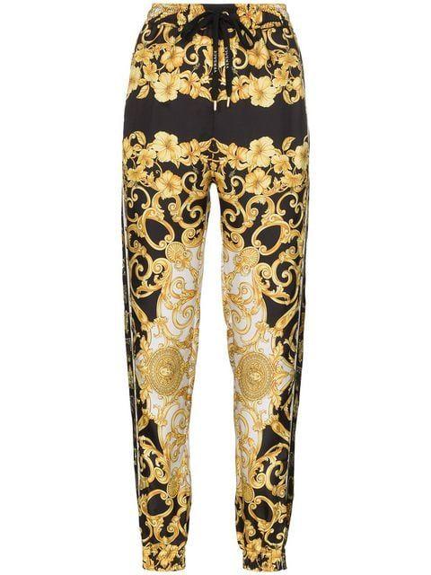 più foto edb24 ef9c8 Versace Pantaloni Sportivi Con Motivo Barocco | Fashion nel ...