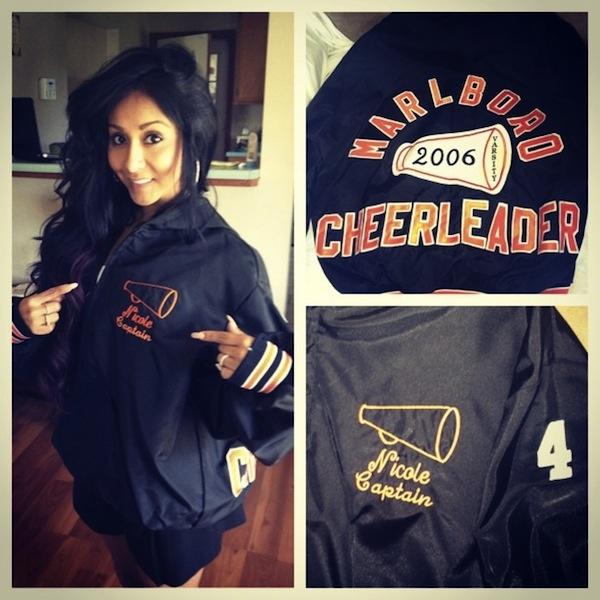 Nicole Snooki Polizzi - High School Varsity Cheer Jacket