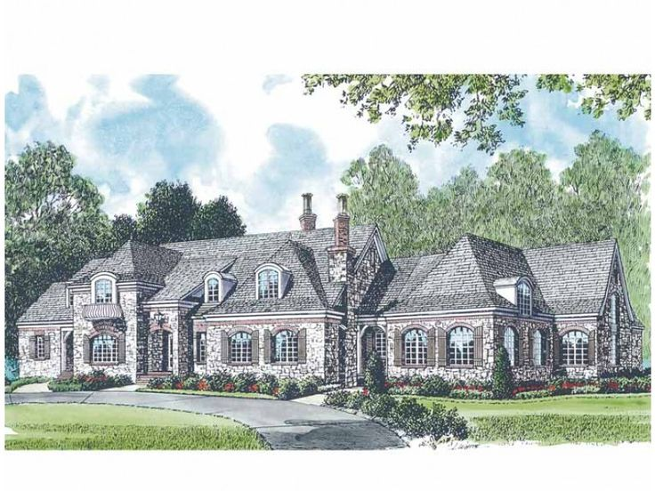 Eplans chateau house plan attractive french manor 9611 for French manor house plans