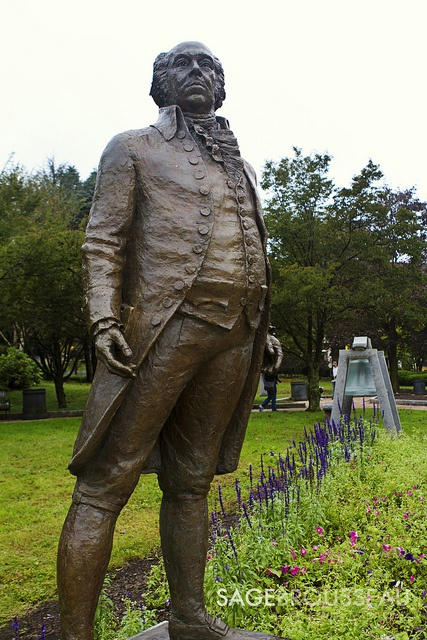 This is the John Adams statue he was our 2nd United States Of America President.  A Harvard-educated lawyer, he early became identified with the patriot cause. He was a  delegate to the First and Second Continental Congresses, he led in the movement for independence.