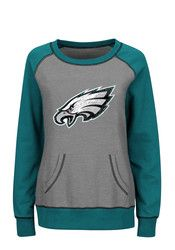 Philadelphia Eagles Womens Grey O.T. Queen Pullover