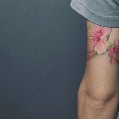 Gilberta Vita #gilbertavita#vita#fiori#flowers #tatuaggio #tattoo #tattooidea #tree #colors #inktattoo #bough #spring #acquerello #dipinto #tattoocolors #artist #painting #picture# watercolors #milan #milano # purotattoostudio