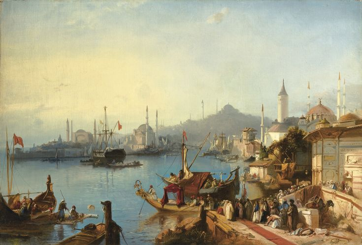 Jacob Jacobs, 1812 - 1879 THE ARRIVAL OF SULTAN ABDÜLMECID AT THE NUSRETIYE MOSQUE, 1842 | Sotheby's