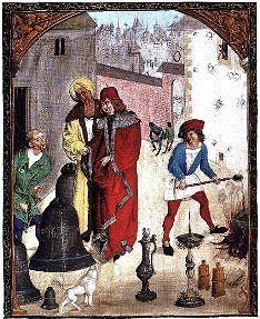 Miniatura z kodeksu Baltazara Behema: U ludwisarza