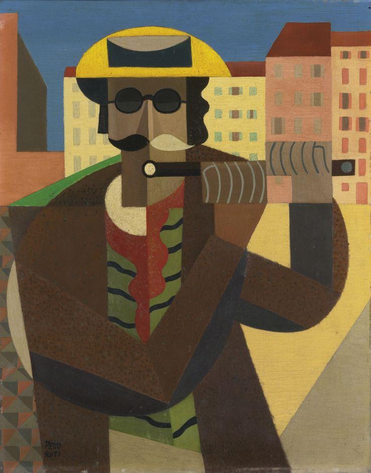 EMILIO PETTORUTI (1892-1971) FLAUTISTA CIEGO (II) Painted in 1919-20.