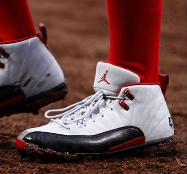 Gio Gonzalez Jordan 12 Red White and Blues