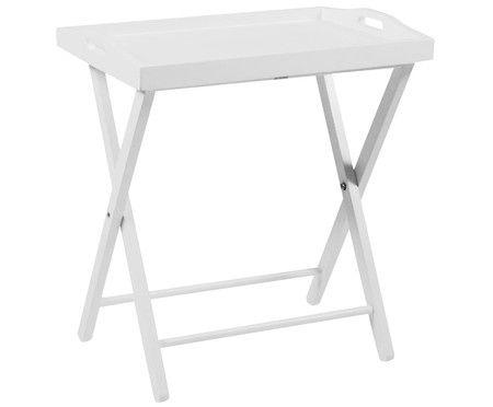 Tablett-Tisch Vassoio, Weiß