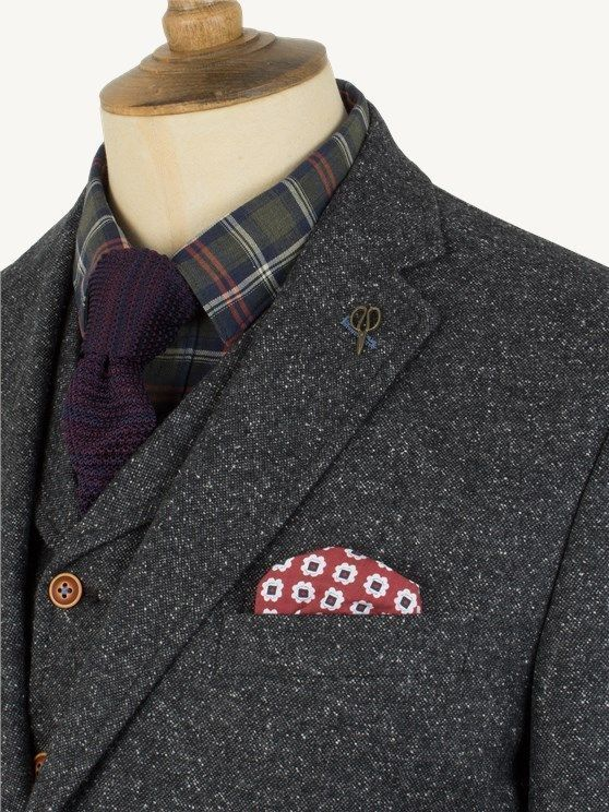 f872d926a Charcoal Donegal Tweed Suit   Classic style   Tweed suits, Suits ...
