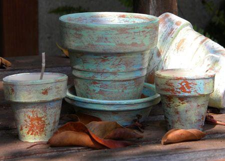 homework: a creative blog: The Dirt: painted clay pots