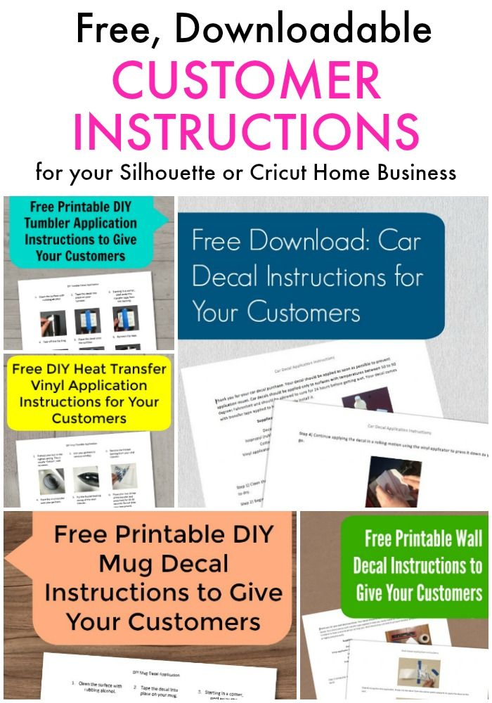 Free Customer Instruction Sets For Vinyl Decals And More