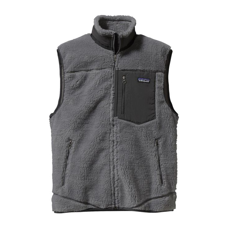 XS Patagonia Men's Classic Retro-X Vest - Whether on its own or under a shell jacket, this windproof, recycled polyester Synchilla® fleece vest keeps your core warm.