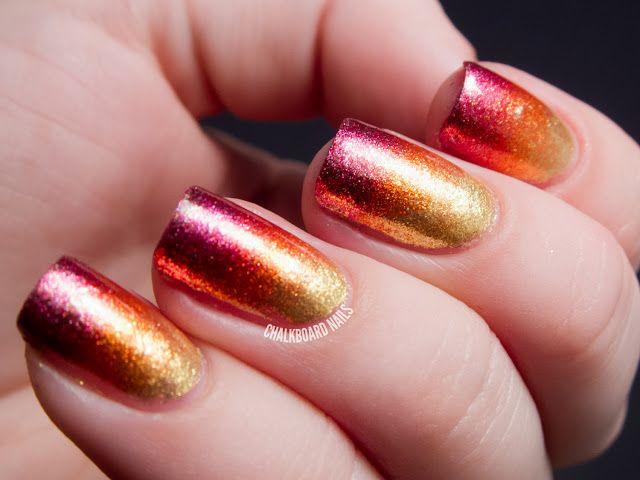 Sparkle & Smolder Foil Gradient Nail Art