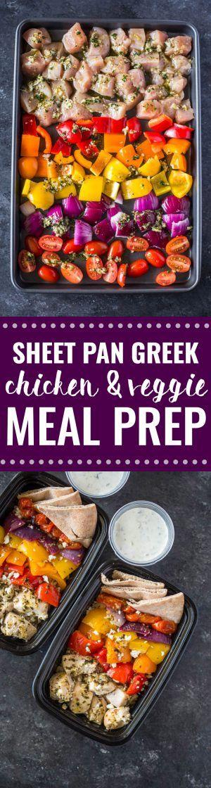 Meal-Prep Greek Chicken and Veggies with Tzatziki