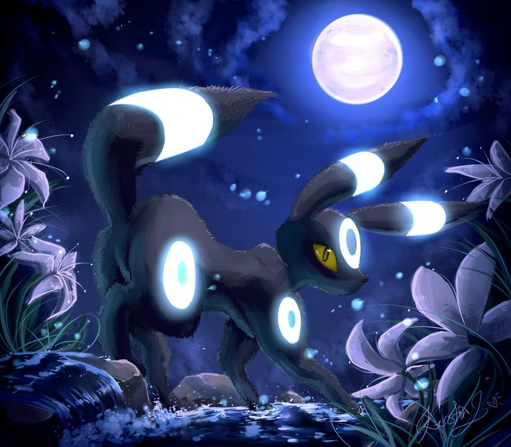 .:Moons Charm:. Shiny Umbreon by EvilQueenie.deviantart.com on @deviantART