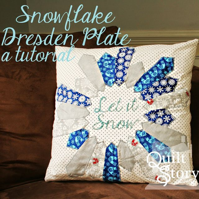 Snowflake Dresden Plate Tutorial | Quiltstory | Bloglovin'