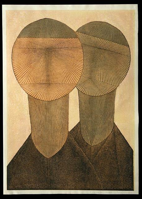 "Tomio Kinoshita Big Boys 1958  Dimensions: approx. 32 x 23""  Floating World Gallery archive"