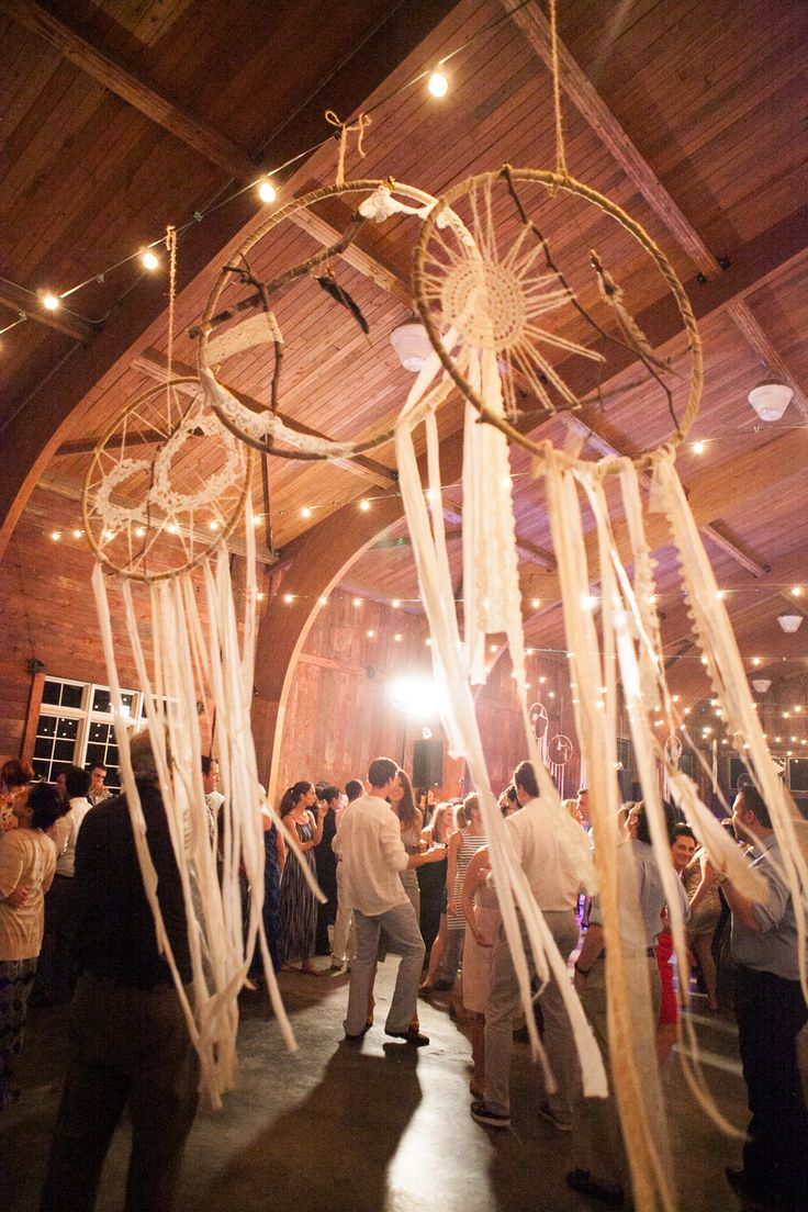 Life Size #DreamCatchers fill the space at this #Glamping Inspired Wedding on http://www.StyleMePretty.com/new-york-weddings/2014/01/20/glamping-inspired-wedding-at-cedar-lakes-estate/ Tory Williams Photography
