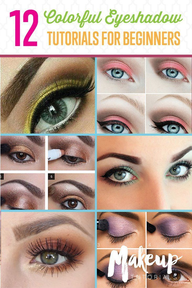 Eyeshadow Tutorials for Beginners | 12 Colorful Eyeshadow Tutorials For Beginners Like You! by Makeup Tutorials at http://makeuptutorials.com/colorful-eyeshadow-tutorials-for-beginners/