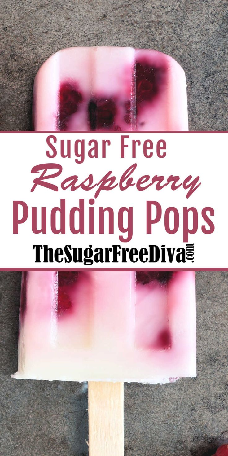 Sugar Free Raspberry Pudding Pops, dessert, snack, ice cream treat that is easy to make and yummy to eat! The perfect de…