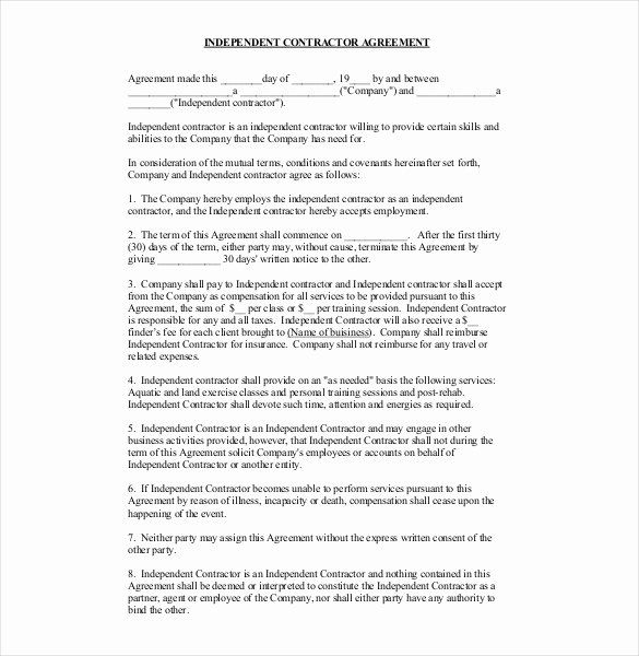 Contractors Contract Template Free Inspirational Contractor Agreement Template 22 Free Word Pdf A Contract Template Contractor Contract Construction Contract