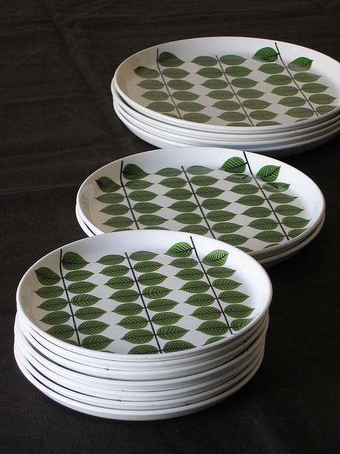 BERSA    Gustavsberg 'BERSA' plates  designed by Stig Lindberg.