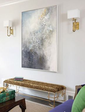 "Wall Art Modern Art Abstract Oil Painting ""Fiolet"" Abstract Painting Large Wall Art Original Painting On Canvas by Julia Kotenko"