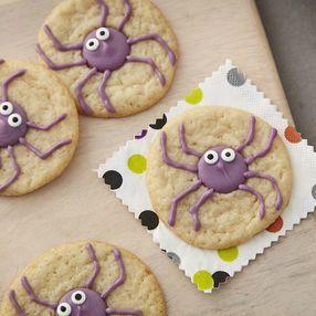 Olhos da aranha do Dia das Bruxas Biscoitos