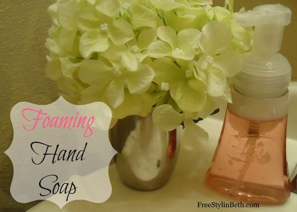 Make your own homemade foaming hand soap with unused shower gel. Three easy steps @ www.freestylinbeth.com