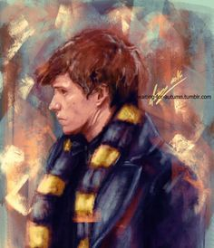 """Newt Scamander. """"I have visited lairs, burrows, and nests across five continents, observed the curious habits of magical beasts in a hundred countries, witnessed their powers, gained their trust and, on occasion, beaten them off with my travelling kettle"""" ~Newt Scamander - Check out my NEW SPECIAL Fanatastic Beasts and Where to Find Them board too!!!!"""