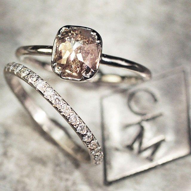 Our 1.37 carat dark champagne diamond ring. chincharmaloney.com