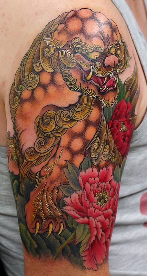 375 best images about colour tattoos on pinterest animal tattoos foo dog and cartoon tattoos. Black Bedroom Furniture Sets. Home Design Ideas