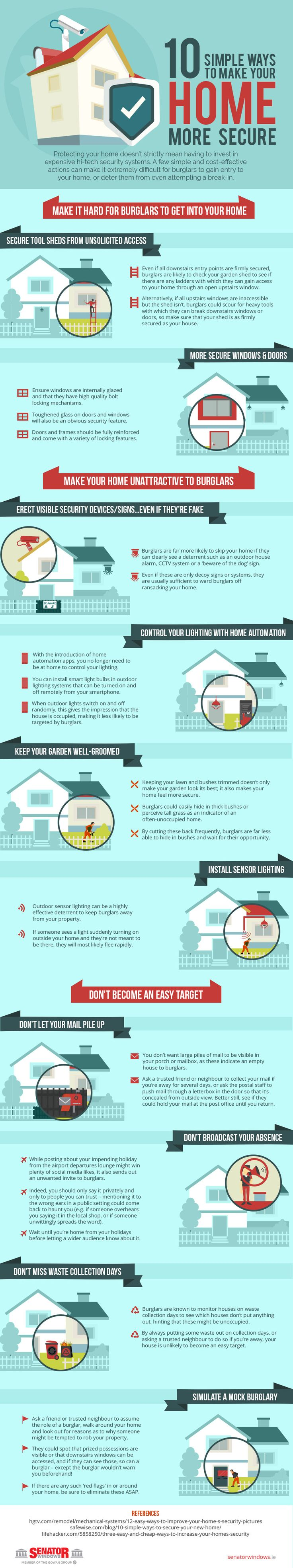 10 Simple Ways To Make Your Home More Secure [Home Protection Home Protection Ideas