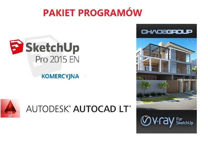 AutoCAD LT 2015 + SketchUp Pro 2015 PL WIN + V-RAY