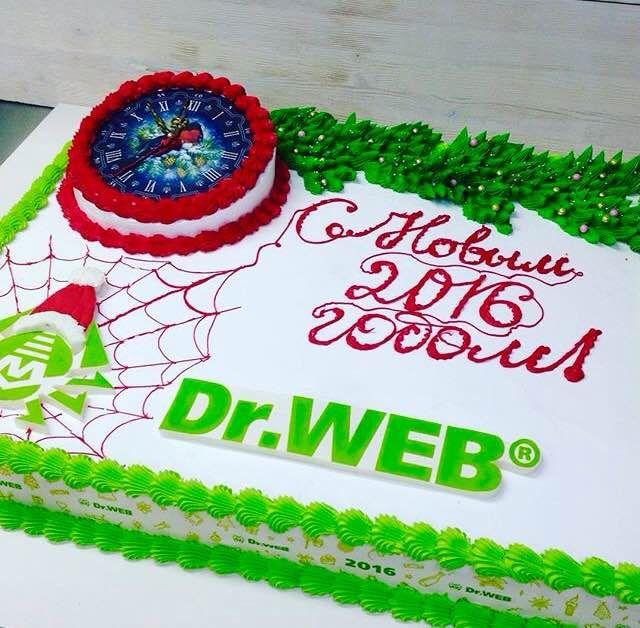 А это - новогодний Dr.Web! Кстати, на наших антивирусных часах уже пробило 11.0! #DrWeb