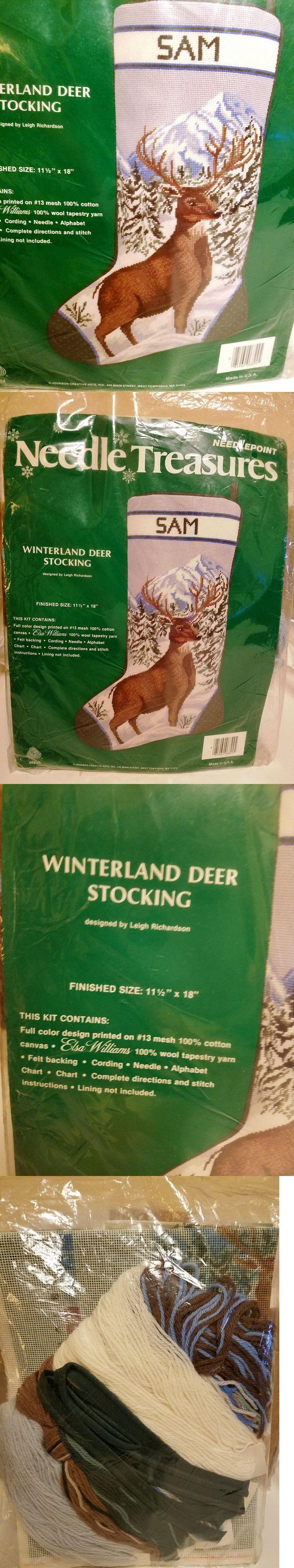 Needlepoint Kits 3109: Needle Treasures 06824 Winterland Deer Needlepoint Stocking Kit ~ Sealed -> BUY IT NOW ONLY: $84.5 on eBay!