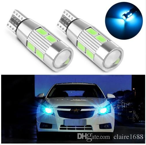 2PCS Car Styling Car Auto LED T10 194 W5W Canbus 10 SMD 5630 LED Light Bulb No Error LED Light Parking T10 Car Side Light - $8.99