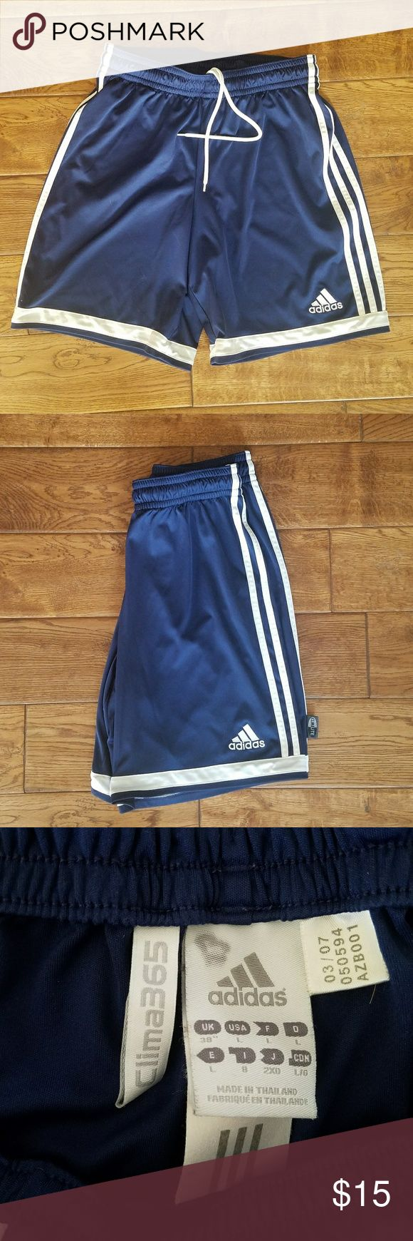 Adidas Soccer Shorts Unisex adidas soccer shorts with drawstring, elastic, and logo in perfect condition. adidas Shorts Athletic