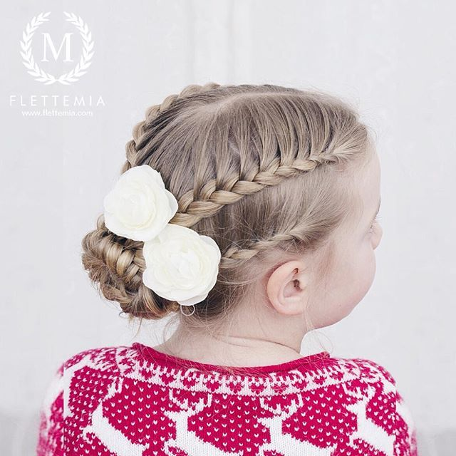 """Halvt franske fletter og flettet knute ❤️ / French lace braids and braided bun ❤️"" Photo taken by @flettemia on Instagram, pinned via the InstaPin iOS App! http://www.instapinapp.com (02/02/2016)"
