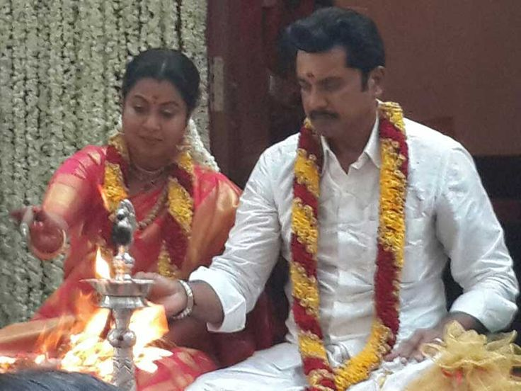 Sarath Kumar's Birthday celebrations performed ritually with brohidhar at his home today at 6.30