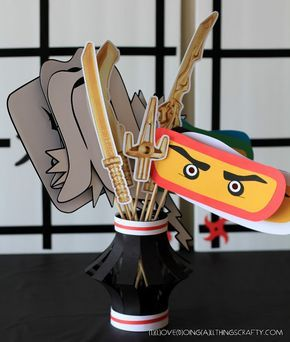(I) (L)ove (D)oing (A)ll Things Crafty!: Ninjago Themed Photo Props - Free Silhouette Files