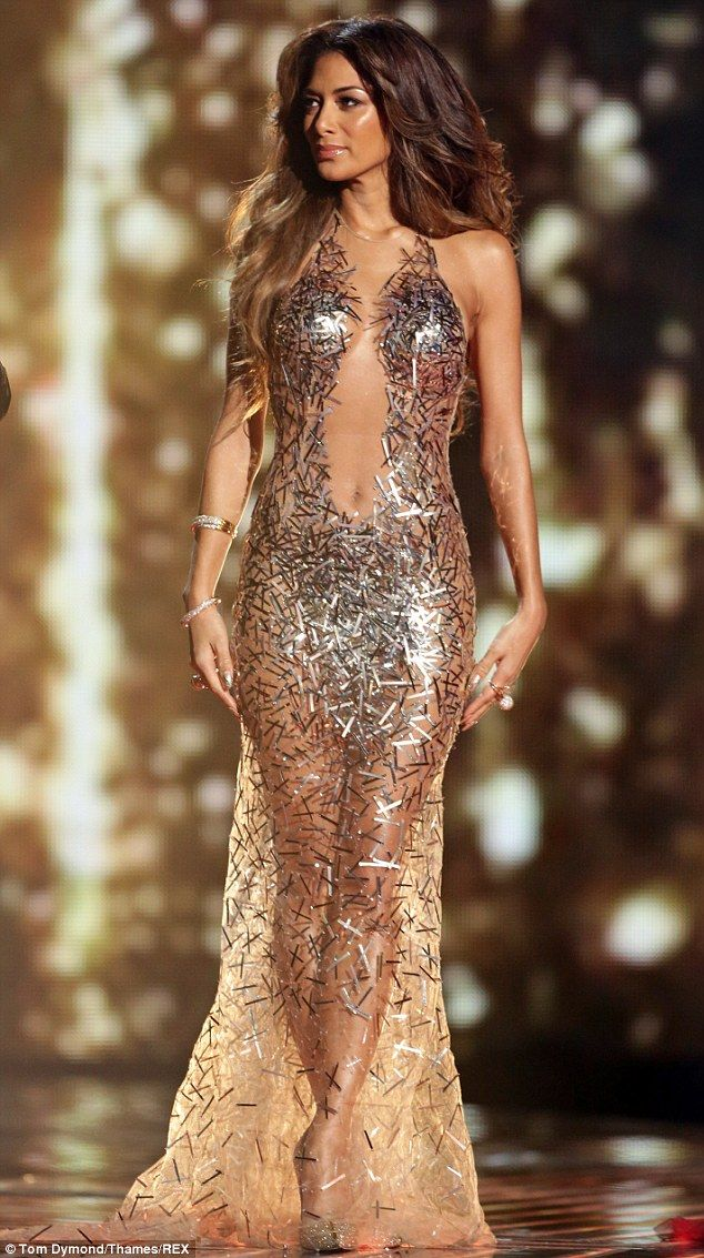 Going for gold: It would seem that Nicole Scherzinger was intent on being the centre of attention once again as she took to the stage at The...