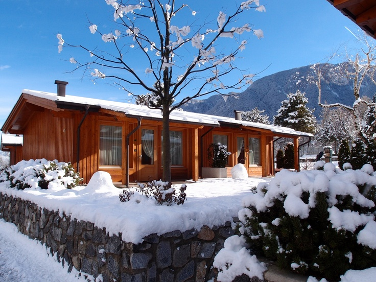 Luxurious Mountain Chalets - Bungalows at the Dolomiti Wellness Resort in the Trentino Südtirol region in Italy