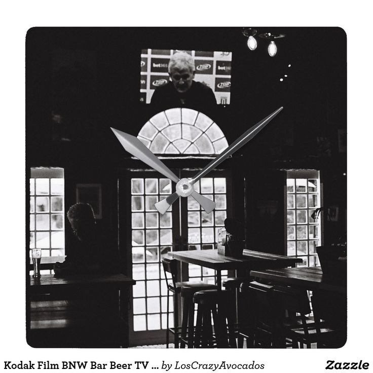 Kodak Film BNW Bar Beer TV Windows Wall Clock