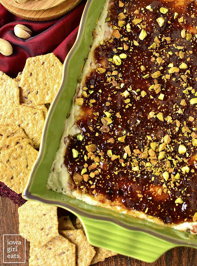 Warm Fig And Prosciutto Goat Cheese Dip